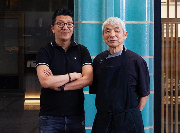 Hugues Polart and Chef Saito Harumi